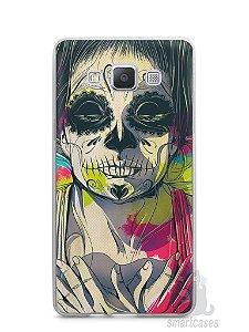 Capa Capinha Samsung A7 2015 Caveira Pintura