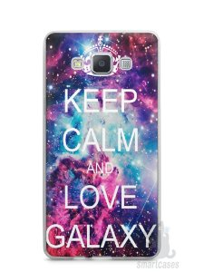 Capa Capinha Samsung A7 2015 Keep Calm and Love Galaxy