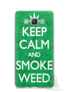 Capa Capinha Samsung A7 2015 Keep Calm and Smoke Weed