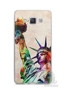 Capa Capinha Samsung A7 2015 Estátua da Liberdade Colorida