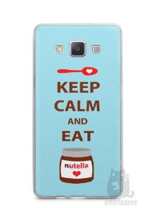 Capa Capinha Samsung A7 2015 Keep Calm and Eat Nutella