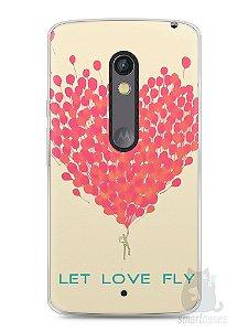 Capa Capinha Moto X Play Deixe o Amor Voar