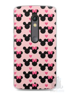 Capa Capinha Moto X Play Mickey e Minnie