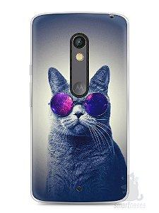 Capa Capinha Moto X Play Gato Galáxia #2