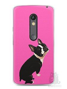 Capa Capinha Moto X Play Cachorro Boston Terrier