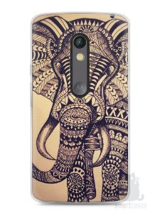 Capa Capinha Moto X Play Elefante Tribal