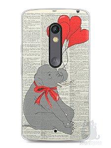 Capa Capinha Moto X Play Elefante e Corações