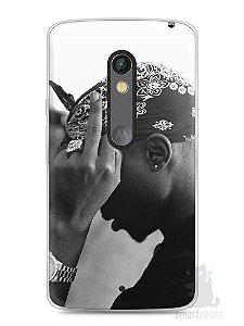 Capa Capinha Moto X Play Tupac Shakur #2