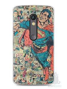Capa Capinha Moto X Play Super Homem Comic Books