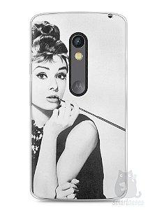 Capa Capinha Moto X Play Audrey Hepburn #1