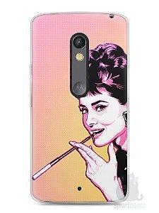 Capa Capinha Moto X Play Audrey Hepburn #2