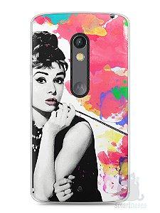 Capa Capinha Moto X Play Audrey Hepburn #5