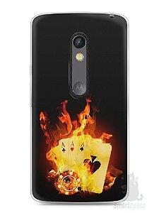 Capa Capinha Moto X Play Poker #1