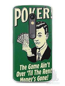 Capa Capinha Moto X Play Poker #2