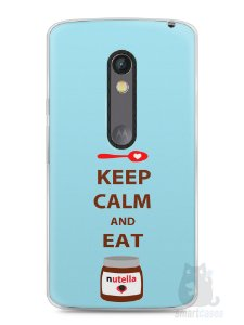 Capa Capinha Moto X Play Keep Calm and Eat Nutella