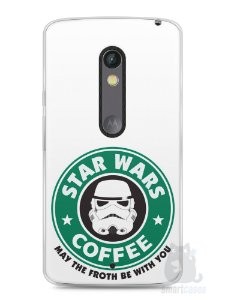 Capa Capinha Moto X Play Star Wars Coffee
