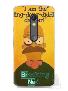 Capa Capinha Moto X Play Homer Simpson Breaking Bad