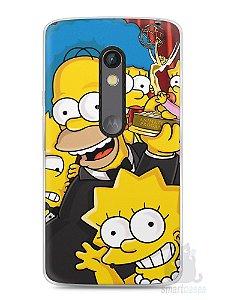 Capa Capinha Moto X Play Família Simpsons #2