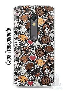 Capa Capinha Moto X Play Cachorros