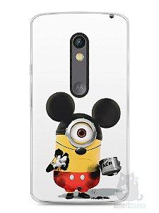 Capa Capinha Moto X Play Minions Mickey Mouse