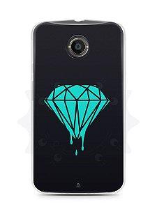 Capa Capinha Moto X2 Diamante Azul