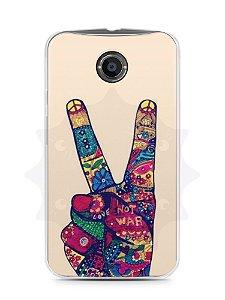 Capa Capinha Moto X2 Paz e Amor
