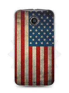 Capa Capinha Moto X2 Bandeira EUA