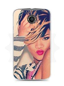 Capa Capinha Moto X2 Rihanna #1