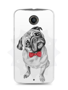 Capa Capinha Moto X2 Cachorro Pug Estiloso #2