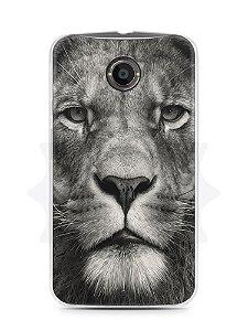 Capa Capinha Moto X2 Leão Face