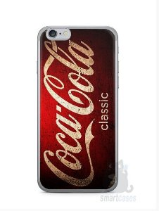 Kit com 3 Capinhas Coca-Cola Classic 2 Iphone 6 e 1 Iphone 6 Plus