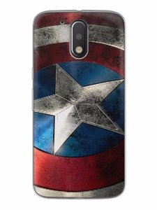 Capa Capinha Motorola Moto G4 G4 Plus Escudo Capitão América