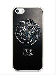 Capa Capinha Iphone 5 5s Game Of Thrones Targaryen Bordas Pretas