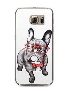 Capa Capinha Samsung S6 Cachorro Bulldog Francês Estiloso