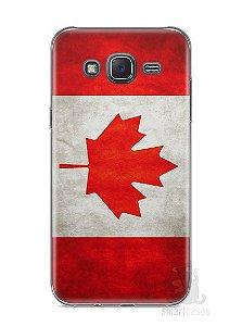 Capa Capinha Samsung J5 METAL Bandeira Canadá #1