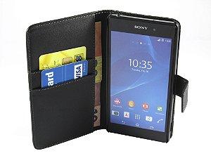 Capa Sony Z2 Carteira Couro