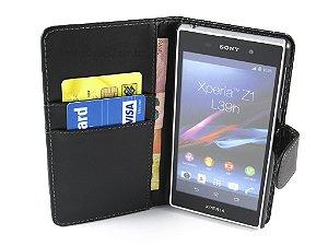 Capa Sony Z1 Carteira Couro