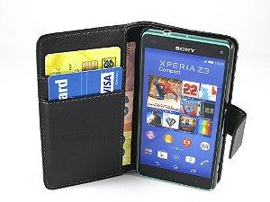 Capa Sony Z3 Compact Carteira Couro