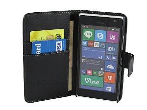 Capa Lumia 730 Carteira Couro