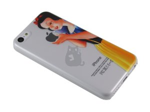 Capa Iphone 5C Branca de Neve Segurando Maçã