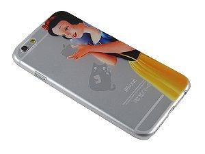 Capa Iphone 6 Branca de Neve Segurando Maçã