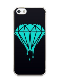 Capa Iphone 5/S Diamante Azul
