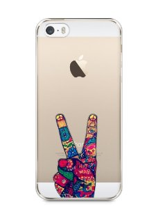 Capa Iphone 5/S Paz e Amor