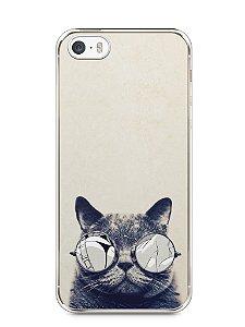 Capa Iphone 5/S Gato Com Óculos