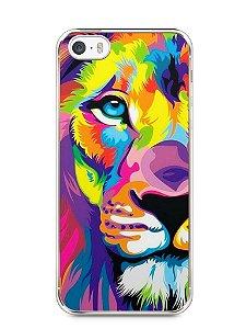 Capa Iphone 5/S Leão Colorido #1