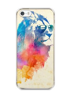 Capa Iphone 5/S Leão Colorido #2