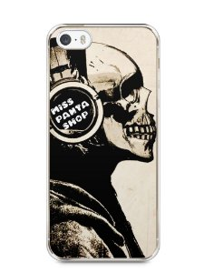 Capa Iphone 5/S Caveira Music