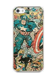 Capa Iphone 5/S Capitão América Comic Books #1