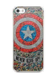 Capa Iphone 5/S Capitão América Comic Books #3