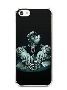 Capa Iphone 5/S Popeye Jogando Poker